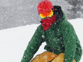 """Keith Miller, head mechanic at Murdock's Bicycles and Sports, Oswego, snowboarding in the Tug Hill in February 2017. """"I love the snow. I love downhill skiing. It's what I live for in the winter."""""""