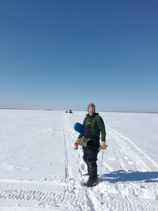 """Michael Sattler, campus director,Bryant & Stratton College, Syracuse. """"I live on Oneida Lake so I love to ice fish and I'm also an avid snowmobiler and I like downhill skiing."""""""