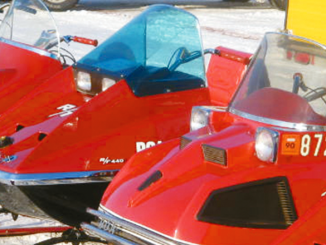 Vintage sleds shown at the 2014 Great Eastern Whiteout in Fulton. This year's event will take place Feb. 9 and 10.