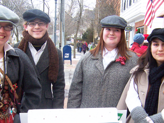Downtown Skaneateles transforms into a Victorian village, thanks in part to the 50 costumed characters interpreting Dicken's A Christmas Carol.