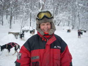 Nancy Stark operates a sledding business with her husband Ray in Lacona, Cupcake Mushing.