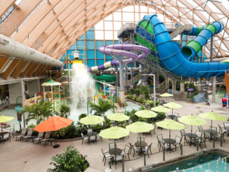 The Kartrite Resort & Indoor Waterpark in Monticello, the state's largest indoor water park. It offer a wide variety of options, including a game room, climbing wall, laser tag, and mini bowling alley and more.
