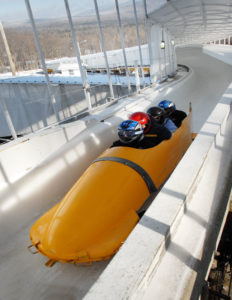 Or take a ride on The bobsled/luge racetrack, which is open for the public to experience the thrill of a 50-second ride with a professional driver and brakeman operating the sled.