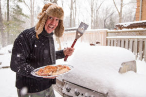 This year, try getting your grill out in the light of the snow. And start grilling.