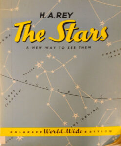 """A book titled """"The Stars,"""" by H.A. Rey, who was famous for his """"Curious George"""" series, is a good way to start your space exploration, according to Bob Piekiel, a member of the Central New York Observers and Observing."""