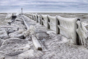 The pier on Lake Ontario in Webster. Courtesy John Kucko.